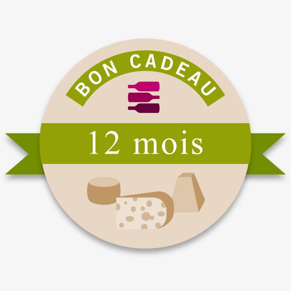 Bon Cadeau 12 Mois Offre Vin-Fromages