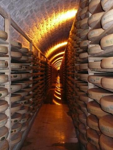 Affinage du fromage Comté