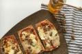 Pizza Pyramine de chèvre Fermière, miel, noix