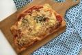 Pizza lardons, pomme, tomme des Pyrénées