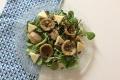 Fonds d'artichaut, salade, tomme de Savoie