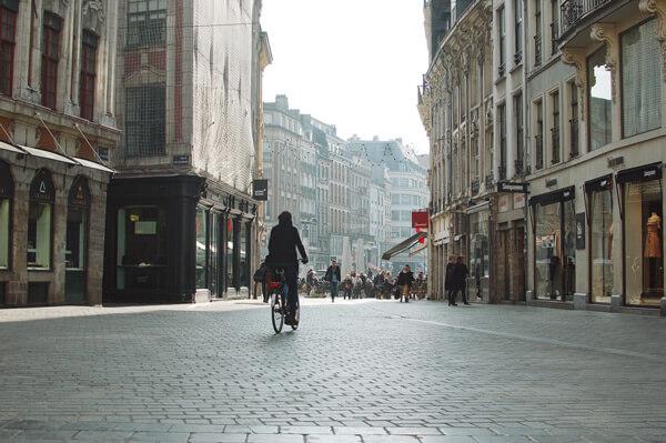 Rue du centre ville de Lille