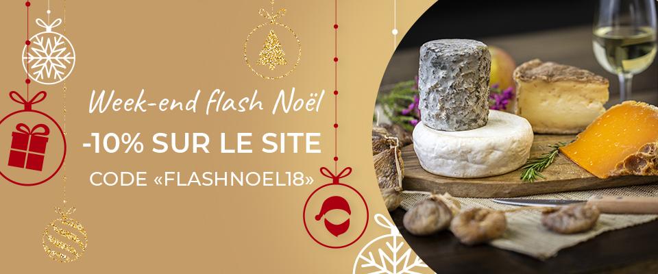 Week-end Flash 10% : Offrez du fromages et du vin à Noel