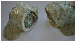 Paupiettes de Veau au chèvre et épinard