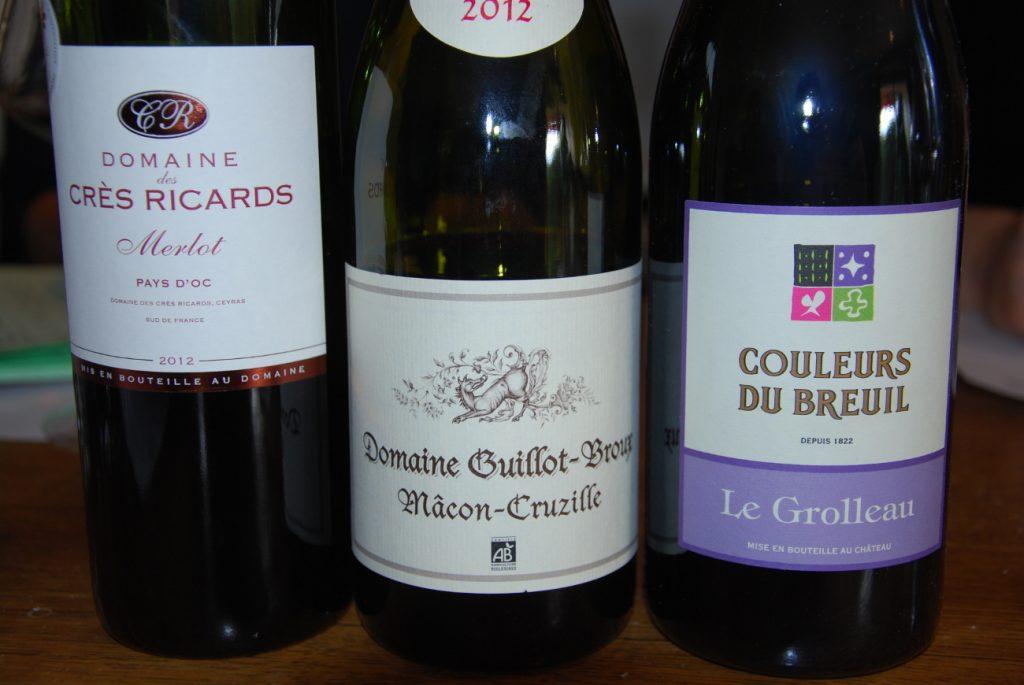 Rouge Domaine des Crès Ricards Merlot / Domaine Guillot / Couleurs du Breuil