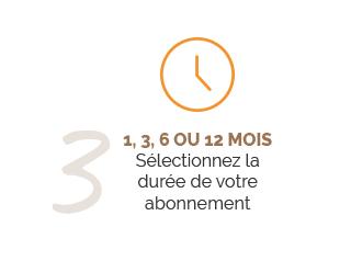 Tuto 3 : Sélection de la durée de l'abonnement
