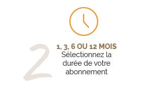 Tuto 2 : Sélection de la durée de l'abonnement