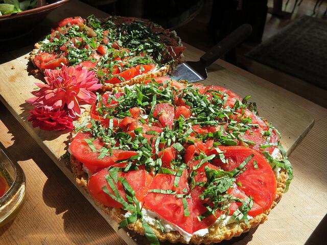 Tarte à la Tomate et à la Tome des Bauges