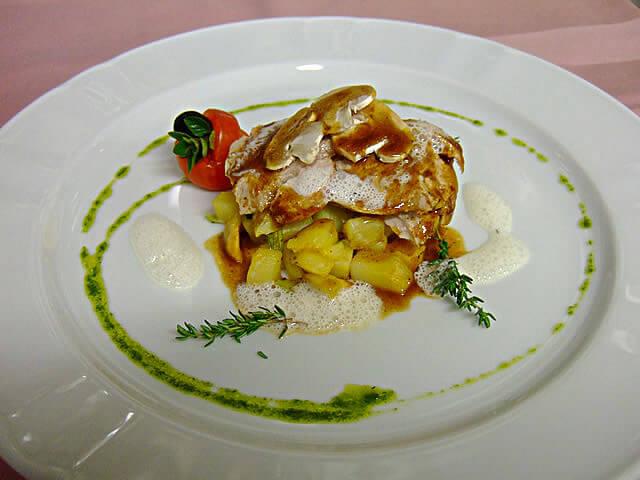 Filet de porc et ses pommes de terre, sauce Neufchâtel