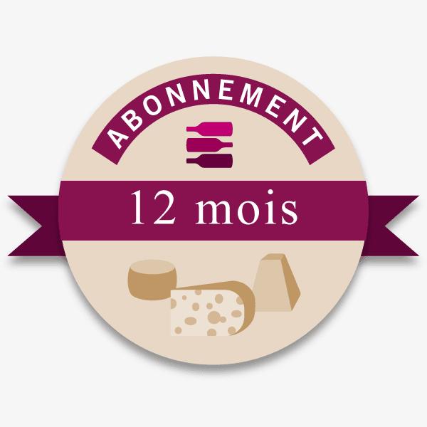 Abonnement 12 mois offre Vin-Fromages