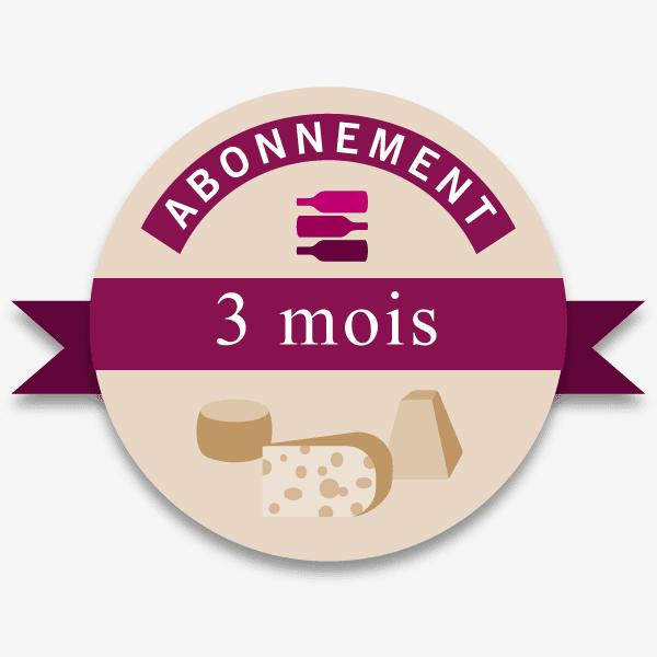 Abonnement 3 mois offre Vin-Fromages