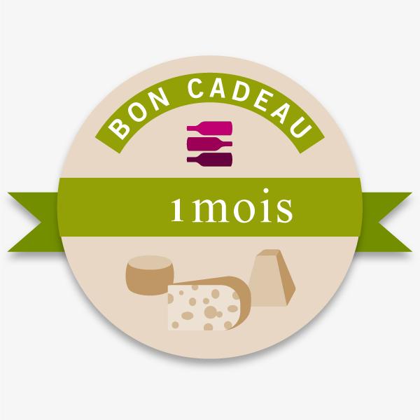 Bon Cadeau 1 Mois Offre Vin-Fromages