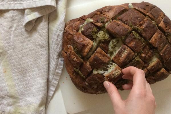 pain garni Tomme Ail des Ours et Presto