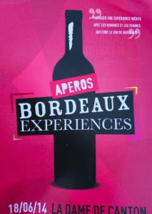 Les apéros Bordeaux Expériences à Paris