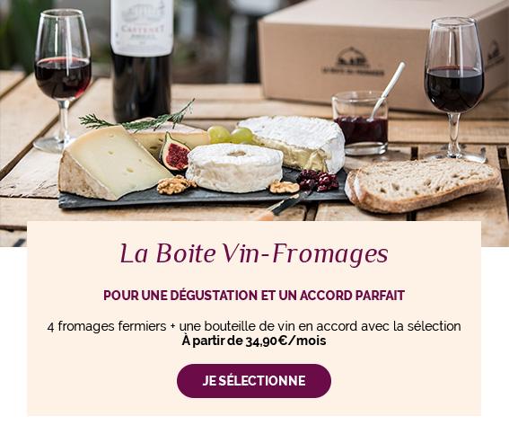 Achetez ou offrez la box Vin-Fromages