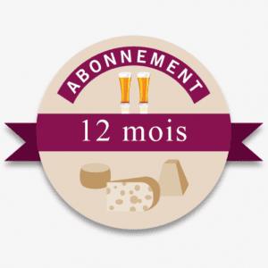 Abonnement à une Offre Fromages-bières pendant 12 Mois