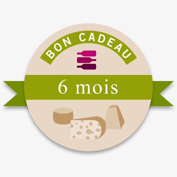 Bon Cadeau 6 Mois Offre Vin-Fromages