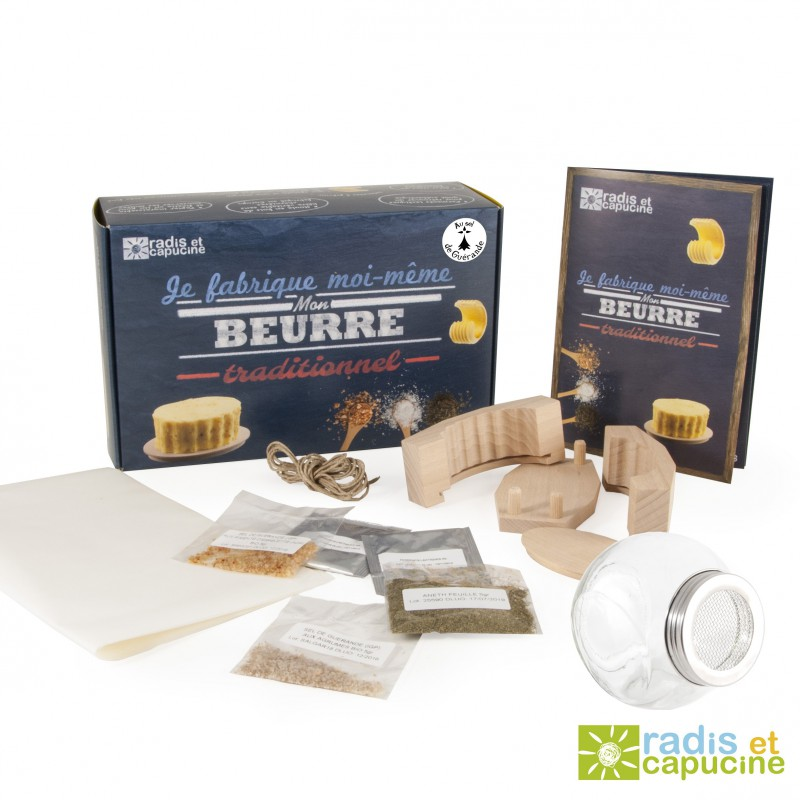 coffret de fabrication maison de beurre traditionnel